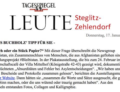 Presse Vorschau: #Bleibistan Ausstellung, Villa Mittelhof in Zehlendorf